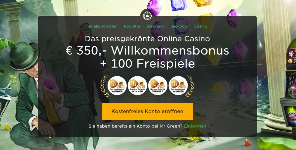 Mr Green Casino Gutschein